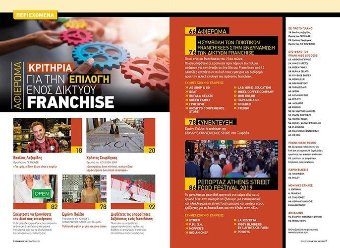 Franchise Success Τεύχος 70 Περιεχόμενα
