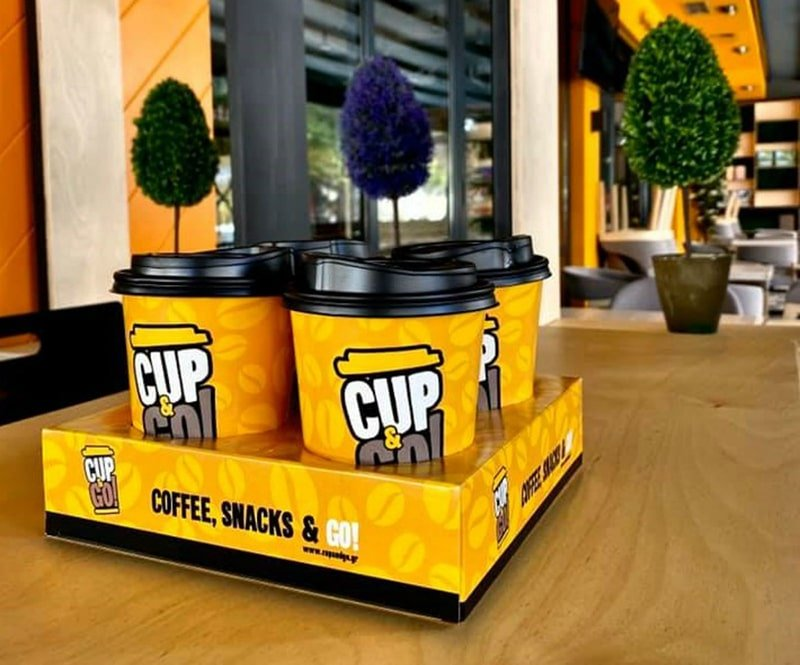 Cup & Go Franchise, καφές και σνακς